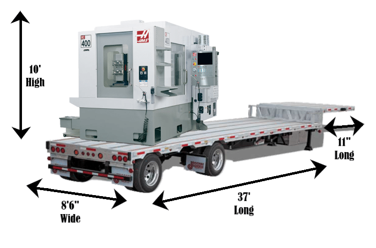 Shipping CNC Machine Step Deck